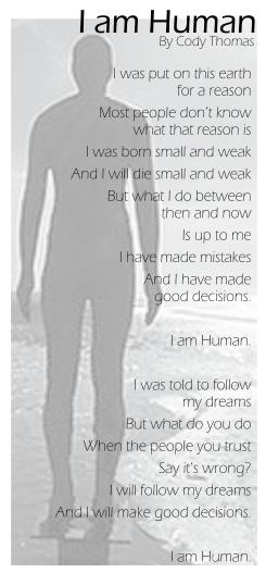 I am Human by Cody Oserakete Thomas