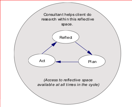 Reflective Action Research Process, Rosen 2005