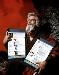 Moses and tablets