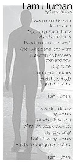 I am Human by Cody Oserakete Thomas
