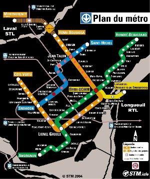 Montreal Metro Map