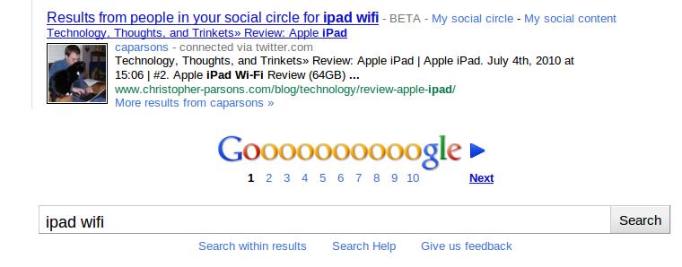 Google Social Circle and Chris
